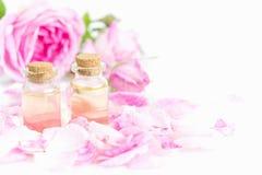Petróleo essencial de Rosa Imagem de Stock Royalty Free