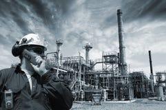 Petróleo, gas y potencia del ingeniero Fotos de archivo libres de regalías