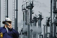 Petróleo, gas y potencia del ingeniero Imagenes de archivo