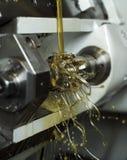 Petróleo na máquina Fotografia de Stock Royalty Free