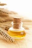 Petróleo natural del germen de trigo Imágenes de archivo libres de regalías