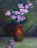 Petróleo-Pintura - flor de globo Fotos de archivo libres de regalías