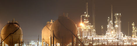 Petróleo-Refinería-planta fotos de archivo libres de regalías