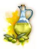 Petróleo verde-oliva ilustração stock