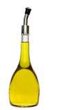 Petróleo verde-oliva cristal e puro do gourmet no botte Imagens de Stock