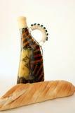 Petróleo verde-oliva e pão Imagem de Stock Royalty Free