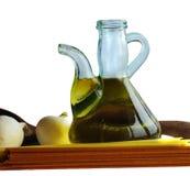 Petróleo verde-oliva e spagetti Foto de Stock