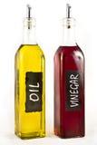 Petróleo verde-oliva e Vinigar Fotos de Stock Royalty Free