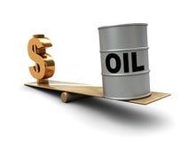 Petróleo y dinero Foto de archivo libre de regalías