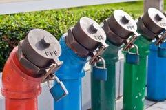 Petróleo y gaseoductos Imágenes de archivo libres de regalías
