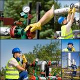 Petróleo y industria petrolera Imagen de archivo libre de regalías