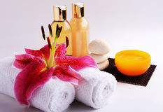 Petróleos aromáticos da massagem Fotografia de Stock Royalty Free