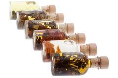 Petróleos comestíveis diferentes Fotografia de Stock Royalty Free