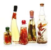 Petróleos y vinagres infundidos Imagen de archivo