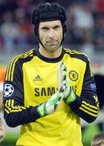 Petr Cech of Chelsea. Chelsea's Petr Cech pictured before the UEFA Champions League group E game between Steaua Bucharest and Chelsea FC, on National Arena from Royalty Free Stock Photography