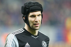 Steaua Bucharest - Chelsea London. Petr Cech, during the football match, counting for the 2014 EUFA Europa League round of 8, first leg, between Steaua Bucharest Stock Image