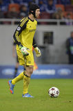 Petr Cech. Goalkeeper of Chelsea London pictured during the Uefa Champions League game against Steaua Bucharest. Chelsea won the match, 4-0 Royalty Free Stock Photos