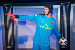 Petr Cech in Grevin museum of the wax figures in Prague. Prague, Czech republic, July 22, 2017: Petr Cech in Grevin museum of the wax figures in Prague Royalty Free Stock Images