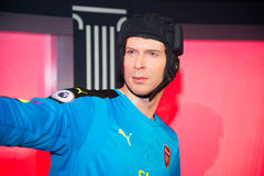 Petr Cech in Grevin museum of the wax figures in Prague. Stock Images