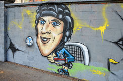 Petr Cech on the wall Royalty Free Stock Photos