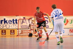 Petr Hermansky - floorball. Petr Hermansky in 2th semifinal of czech floorball match betwwen Tatran Stresovice and Pedro Perez Florbal Chodov. It was played on Royalty Free Stock Photography