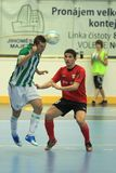 Petr Junek and Douglas in futsal match Stock Images