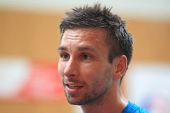 Petr Koukal - badminton Royalty Free Stock Photography