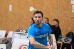 Petr Koukal - tjeckisk badminton Fotografering för Bildbyråer