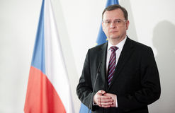 Petr Necas. Czech prime minister Petr Necas during press conference in Prague, February 22, 2013 Stock Photography