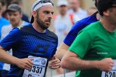 Petr Nechoddoma - Prague marathon 2015 Royalty Free Stock Photography