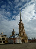 Petr and Pavel forecast. Petr and Pavel church in Saint Petesburg Royalty Free Stock Photos