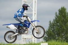 Petr Silaev. Motobiker Royalty Free Stock Photos
