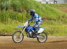 Petr Silaev. Motobiker Stock Photos
