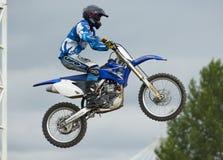 Petr Silaev. Motobiker Stock Images