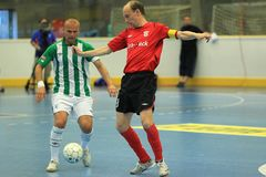 Petr Vladyka and Marek Kopecky - futsal Royalty Free Stock Photography