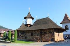 Petr Voda-klooster in Bucovina Roemenië royalty-vrije stock foto's