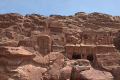 Â Petra一个古城 免版税库存图片