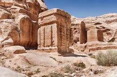 Petra上帝块  库存照片