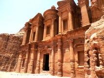Petra修道院 库存图片