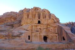 Petra古老被放弃的岩石城市在约旦作为一个旅游胜地 图库摄影