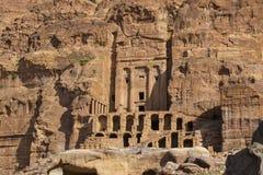 Petra古老被放弃的岩石城市在约旦 库存图片