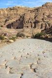 Petra古老被放弃的岩石城市在约旦 免版税库存图片