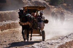 Petra在约旦哈希姆王国 库存图片
