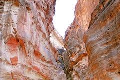 Petra岩石,约旦 库存照片