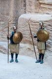 Petra的战士,约旦 图库摄影