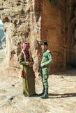 Petra的战士 免版税库存照片