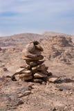 Petra石标 免版税库存照片