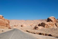 Petra考古学公园,约旦,中东 库存照片