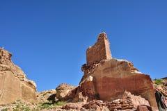 Petra考古学站点 图库摄影