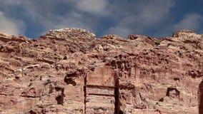 Petra,约旦,中东--它是约旦的标志,以及约旦` s最参观了旅游胜地 股票视频